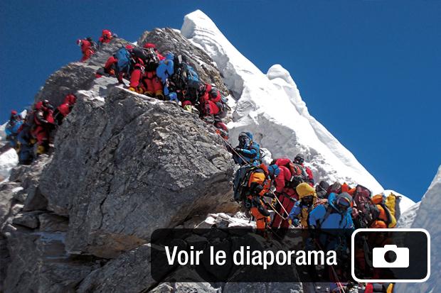 Quelques alpinistes sur le Mont Everest Source: National Geographic