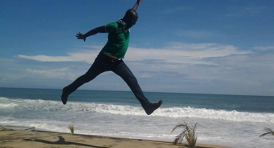 Le blogueur centrafricain Baba Mahamat au Free Jumping...