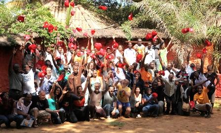Photo de Famille des Mondoblogueurs présents à Abidjan..