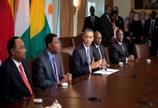 Obama et quelques Chefs d'Etats Africains, Crédit Photo : Tchad Pages