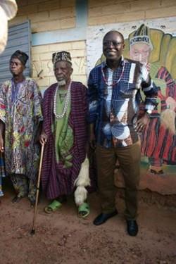 Abdoulaye Bio Tchané et le roi de Toui, Credit Photo: Abdoulaye Bio Tchané